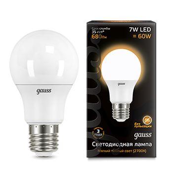 Лампа светодиодная Gauss LED A60 7W E27 2700K(102502107)