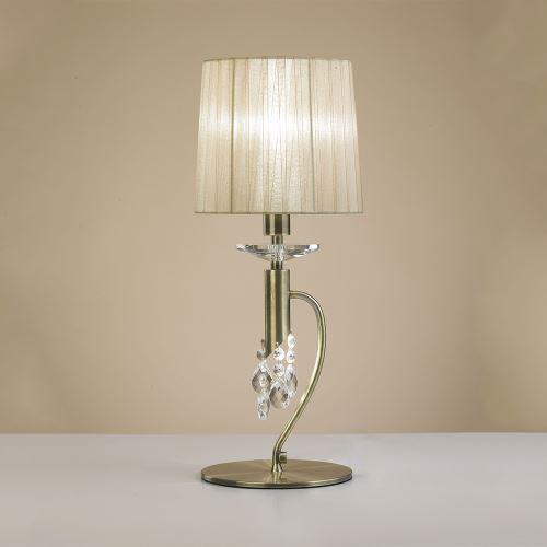 Настольная лампа Mantra Tiffany кремовый/бронза 3888