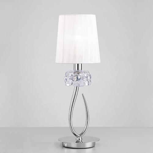 Настольная лампа Mantra Loewe белый/хром 4637