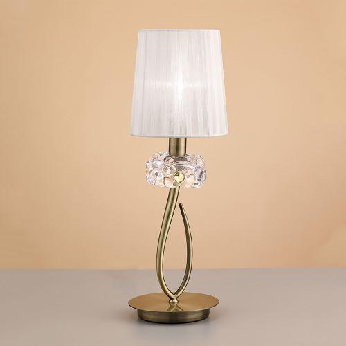 Настольная лампа Mantra Loewe белый/бронза 4737