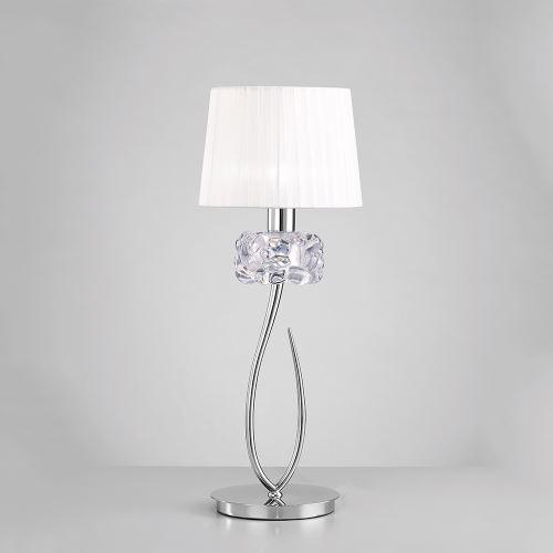 Настольная лампа Mantra Loewe белый/хром 4636