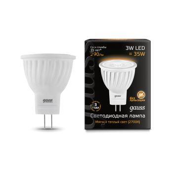 Лампа светодиодная Gauss LED MR11 GU4 3W 2700K(132517103)