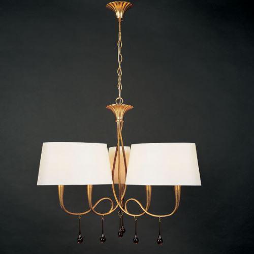 Люстра подвесная Mantra Paola золото 3540