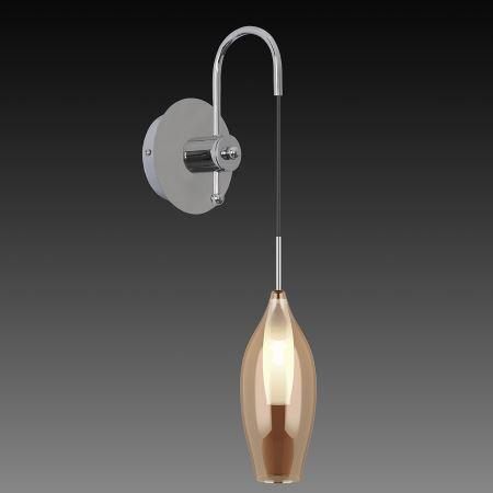 Бра Lightstar Pentola хром/янтарный 803523