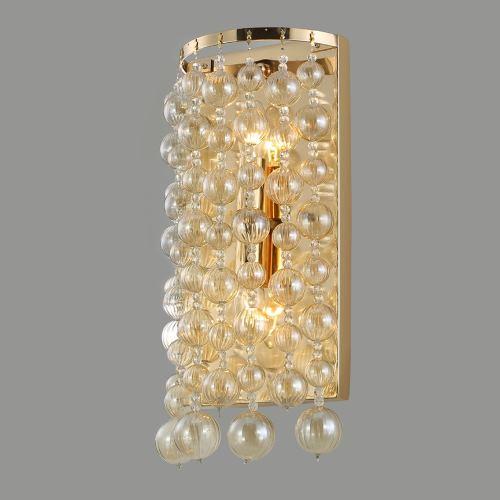 Бра Crystal Lux Mallorca золото AP2 Gold/Amber