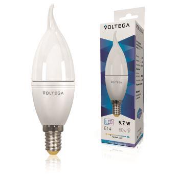 Лампа светодиодная Voltega Simple LED Свеча на ветру 5.7W E14 2800K