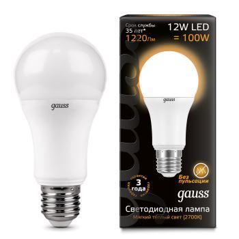 Лампа светодиодная Gauss LED A60 12W E27 2700K(102502112)