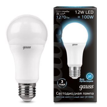 Лампа светодиодная Gauss LED A60 12W E27 4100K(102502212)