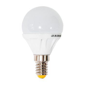 Лампа светодиодная Feron LB-38 LED Globe G45 5W E14 4000K(25404)