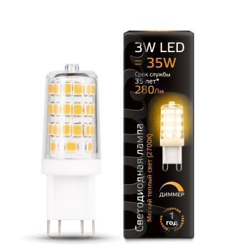 Лампа светодиодная Gauss LED G9 Dimmable 3W 2700K(107309103)