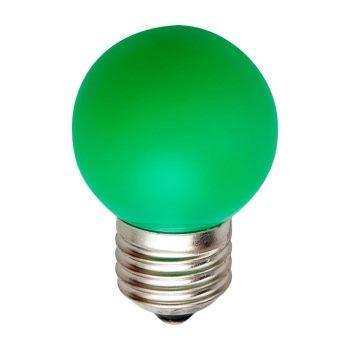 Лампа светодиодная Feron LB-37 LED Globe G45 1W E27 зеленый(25117)