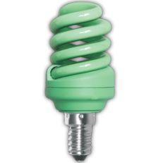 Лампа энергосберегающая Ecola Spiral Color 12W E14 Green(Z4CG12ECB)