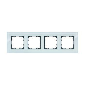 Рамка Siemens Delta Miro Glass 4 поста кристально зеленый 5TG1204