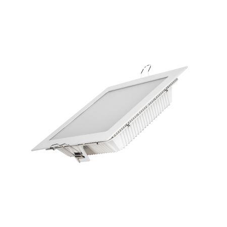 Встраиваемый светильник Varton Downlight 20W 3000K квадратный белый аварийный