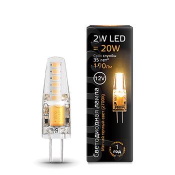 Лампа светодиодная Gauss LED G4 2W 12V 2700K(207707102)