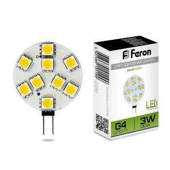 Лампа светодиодная Feron LB-16 G4 3W 4000K 25093