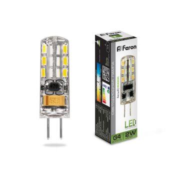 Лампа светодиодная Feron LB-420 G4 2W 12V 4000K 25448