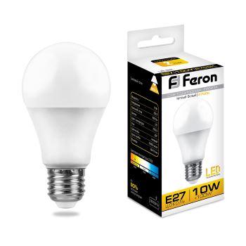Лампа светодиодная Feron LB-92 A60 10W E27 2700K 25457