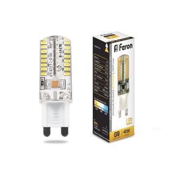 Лампа светодиодная Feron LB-421 G9 4W 2700K 25461