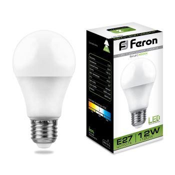 Лампа светодиодная Feron LB-93 A60 12W E27 4000K 25487