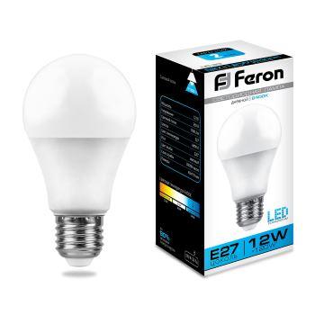 Лампа светодиодная Feron LB-93 A60 12W E27 6400K 25490