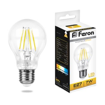 Лампа светодиодная Feron LB-57 филамент A60 7W E27 2700K 25569