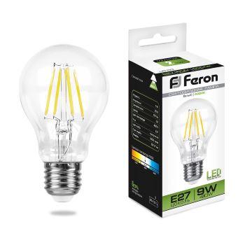 Лампа светодиодная Feron LB-63 филамент A60 9W E27 4000K 25632