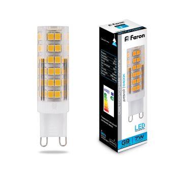 Лампа светодиодная Feron LB-433 G9 7W 6400K 25768