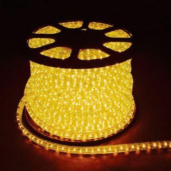 Дюралайт светодиодный Feron LED-R2W 2-х жильный 13мм 36LED/м 1.44Вт/м желтый(26062)