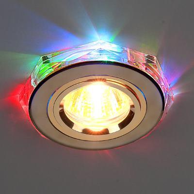 Встраиваемый светильник Elektrostandard 2020/2 GD/7-LED золото/мультиколор