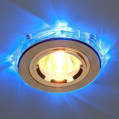 Встраиваемый светильник Elektrostandard 2020/2 GD/LED/BL золото/синий