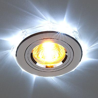 Встраиваемый светильник Elektrostandard 2020/2 SL/LED/WH хром/белый