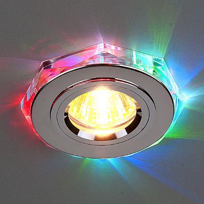 Встраиваемый светильник Elektrostandard 2020/2 SL/7-LED хром/мультиколор