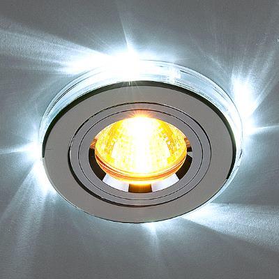 Встраиваемый светильник Elektrostandard 2060/2 SL/LED/WH хром/белый