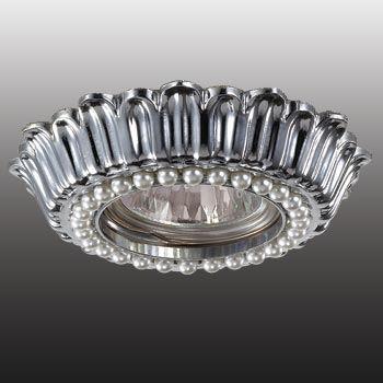 Встраиваемый светильник Novotech Pearl хром 370138