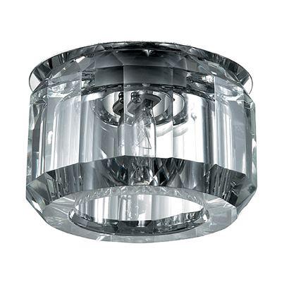 Встраиваемый светильник Novotech Vetro хром/прозрачный 369604