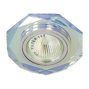 Встраиваемый светильник Feron 8020-2 серебро/7 мультиколор