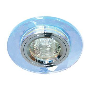 Встраиваемый светильник Feron 8050-2 хром/7 мультиколор