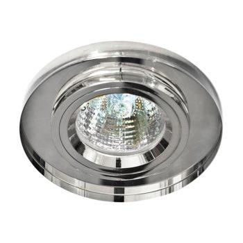 Встраиваемый светильник Feron 8060-2 хром/прозрачный