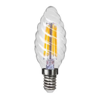 Лампа светодиодная Voltega Crystal LED Свеча витая 4W E14 4000K