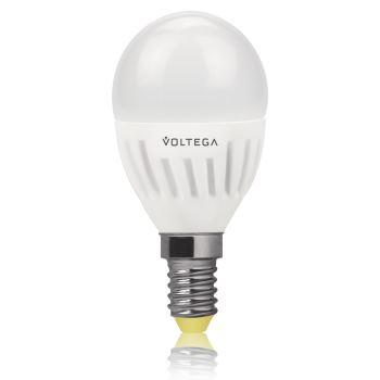 Лампа светодиодная Voltega Ceramics LED Шар 6.5W E14 2800K