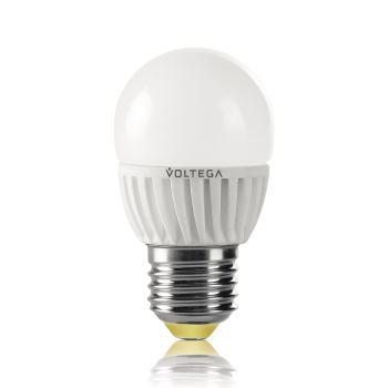 Лампа светодиодная Voltega Ceramics LED Шар 6.5W E27 2800K