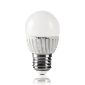 Лампа светодиодная Voltega Ceramics LED Шар 6.5W E27 4000K