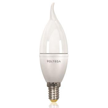 Лампа светодиодная Voltega Simple LED Свеча на ветру 5.5W E14 2800K VG2-CW2E14warm5W 8339