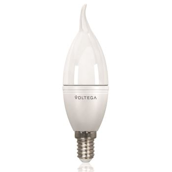 Лампа светодиодная Voltega Simple LED Свеча на ветру 5.7W E14 4000K