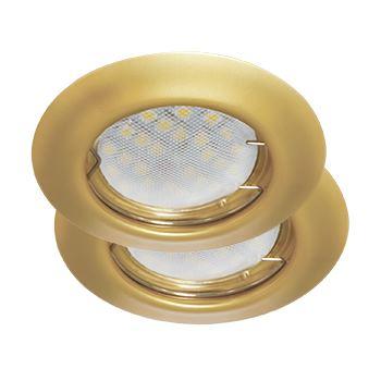 Встраиваемый светильник Ecola Light MR16 DL92 GU5.3 2 pack перламутровое золото FN1622EFY