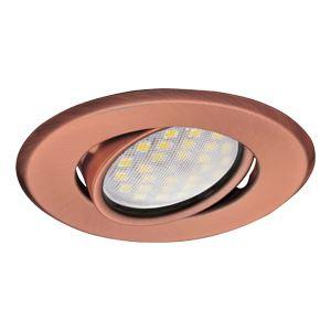 Встраиваемый светильник Ecola MR16 DH09 GU5.3 медь FP1603EFS