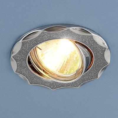 Встраиваемый светильник Elektrostandard 612A серебро блеск/хром