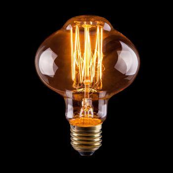 Ретро лампа накаливания Voltega Loft L85(Янтарь нити) 60W E27 2700K
