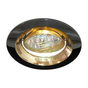 Встраиваемый светильник Feron DL2009 золото/чёрный металлик